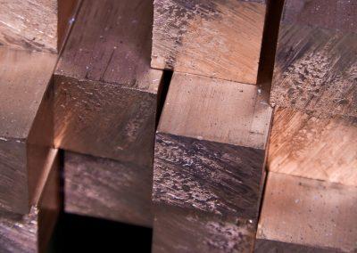 Kupfer-Vierkantstangen